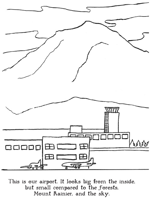 airport maps coloring pages | Coloring book shows airport workers on the job | Its Our ...