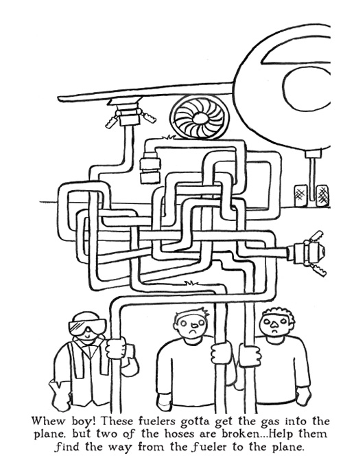 Coloring Book Shows Airport Workers On The Job